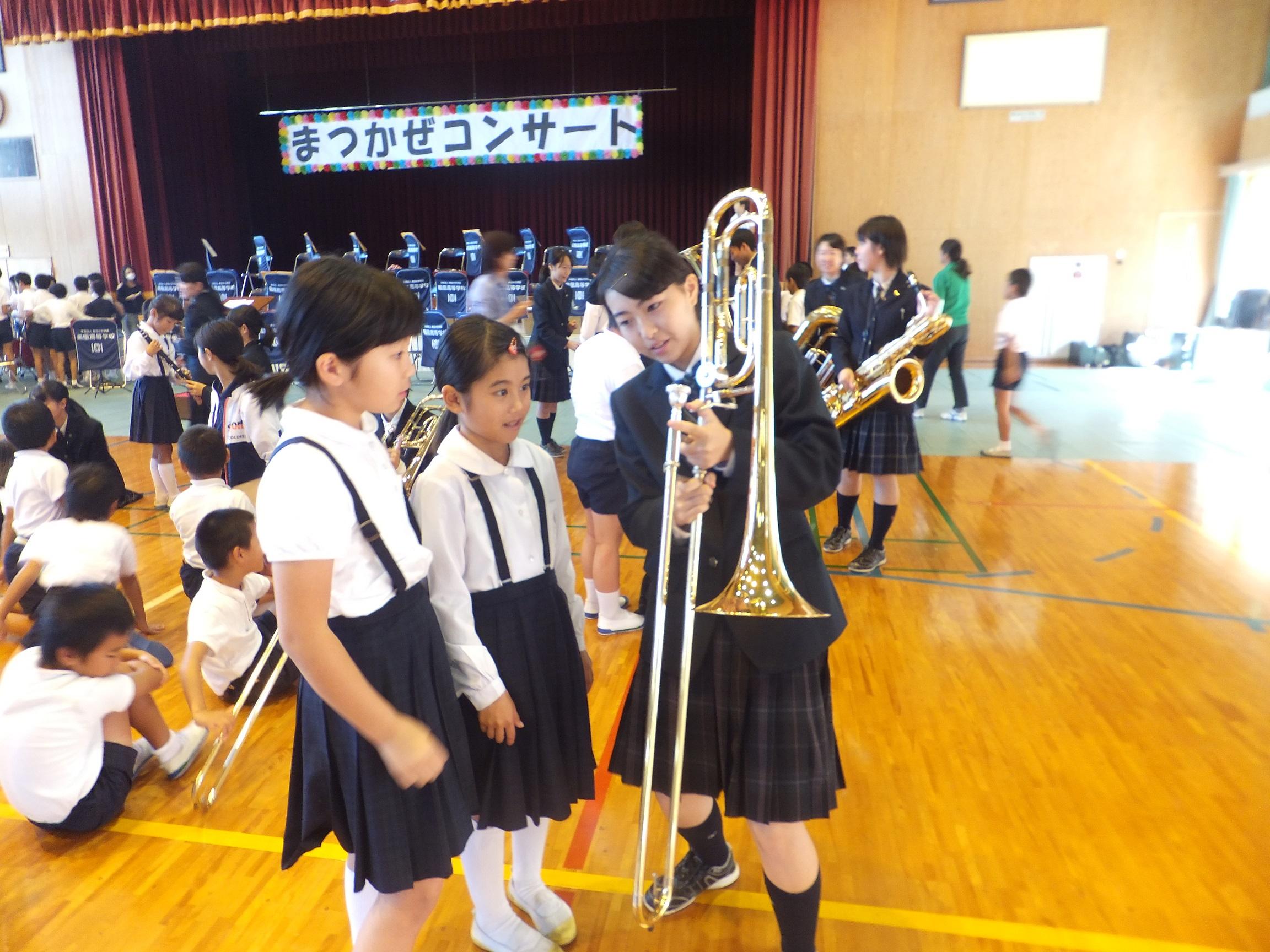 10/31 吹奏楽部 小学校訪問11月行事予定2学期行事予定