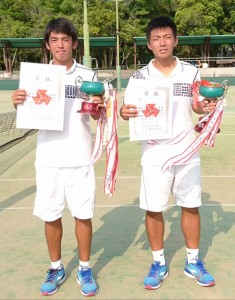 男子テニスW優勝